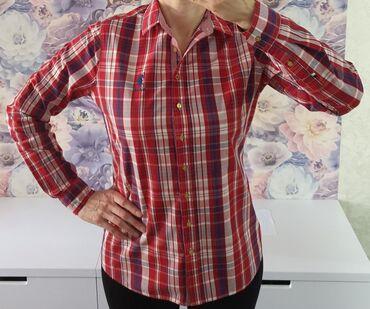 shikarnoe-vechernee-plate-v-pol в Кыргызстан: Классная фирменная рубашка US Polo. Идеальное состояние. Размер 46/48