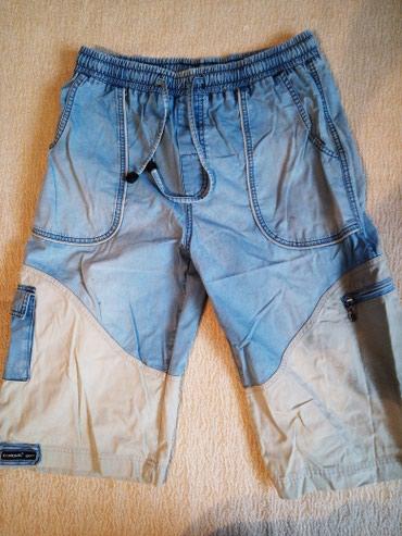 Шорты мужские джинсовые, размер 44-46, пояс на резинке. в Бишкек