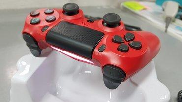 PS4 CRVENI Doubleshock Dzojstik - NOV Bežični džojstik CRVENI za