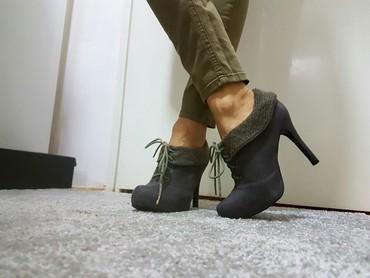 Cm obim tamno sive - Srbija: Sive cipele- cizmice, br.36