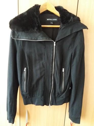 Hm-tanka-jaknica-puder-roza-s - Srbija: Bettina Liano, tanka jaknica sa krznom, made in Australia, odgovara