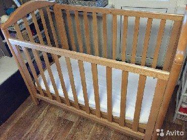 Кроватка манеж из натурального дерева. Фирма Goodbaby. Состояние идеал