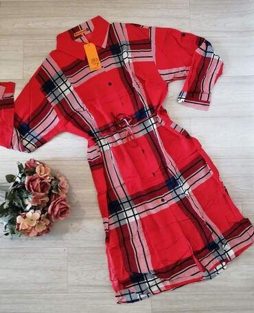 Ženska odeća | Novi Knezevac: Haljine kao kosulje, od viskoze, imaju dodatno dugme na rukavu da se