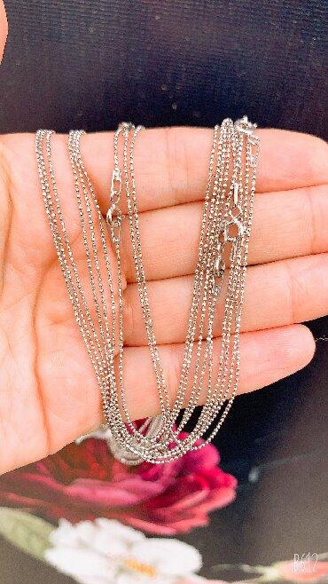 цепь серебряная в Кыргызстан: Новые Серебряные Цепи  Итальянское радированное Серебро 925 пробы  Дли