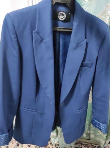 Продаю пиджак. Размер 36. Цвет темно синий. Цена 1000сом
