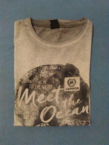 Muska majica,siva sa natpisom,marka LERROS,velicina S,vrhunski - Nis