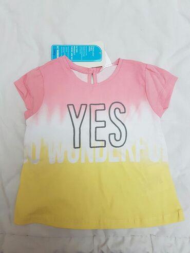 Детские топы и рубашки в Кыргызстан: Новая футболка LC WAIKIKI, на 12- 18 месяцев, 80- 86 см, 100% хб