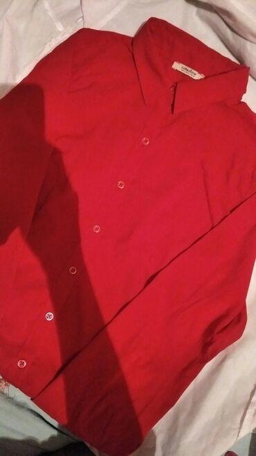 Красная рубашка,в хорошем состоянии,качества хорошая