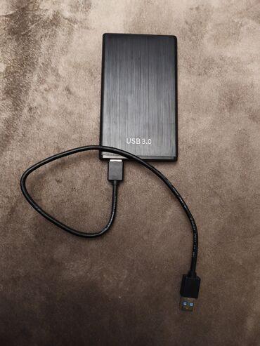 Внешний жёсткий диск, состояние отличное, usb 3.0, 250 ГБ - 1500