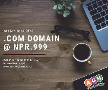 Now you can easily Buy Domain.Com @NPR.999/Domain Registration Nepal w