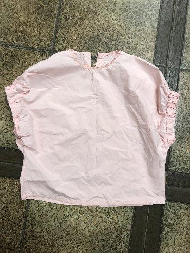 блузки с коротким рукавом в Кыргызстан: Нежно Розовая Кофточка  Хлопок  Рукав | Фонарик  200 сом