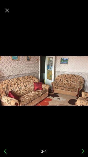 tkan dlja obivki kuhonnoj mebeli в Кыргызстан: Мягкая мебель Lina (диван и 2 кресла) состояние хорошее