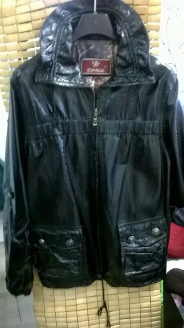 Куртка кожаная деми размер 50, обращаться по телефону в Бишкек