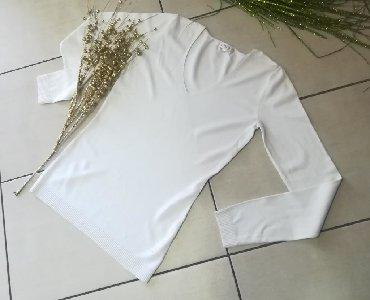Bela bluza Na ve izrez Povoljno Vel S M