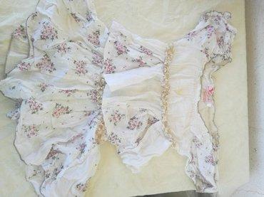 Laneni kompletic,majica I suknjica