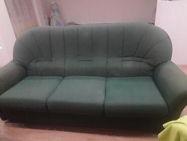 Fotelje | Srbija: Trosed i 2 fotelje maslinasto zelene