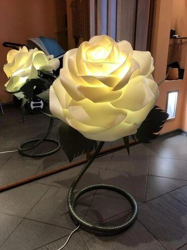 Светильник / ночник (торшер) со светодиодной лампой из гофрированной