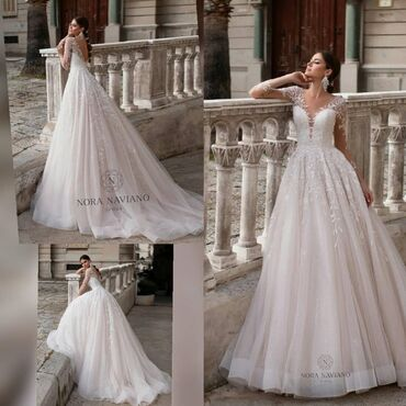 Свадебные платья и аксессуары - Бишкек: Продаётся свадебное платье, после химчистки, состояние отличное!