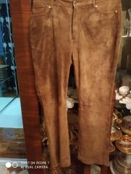 женские брюки с высокой посадкой в Азербайджан: Брюки женские кожаные замшевые