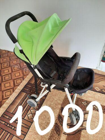 Детский мир - Таш-Мойнок: Продаю б/у коляску, люлька качалка, ходунки -толкачь 2 в 1 манешка