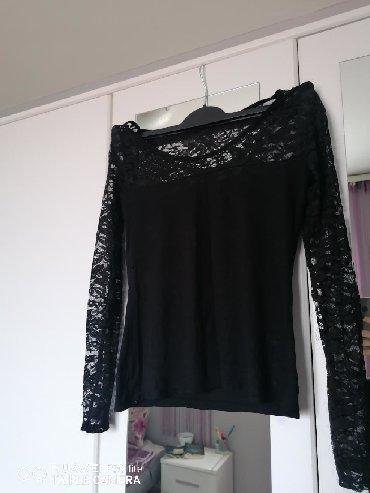 Style-majica-leptir-rukavi-crna-marka - Srbija: Crna čipkana majica, S veličina