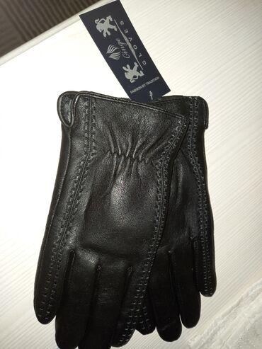 Мужские перчатки зима/весна. Новые. Чёрного цвета. Можно дарить на 14