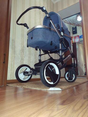 Продам коляску трансформер, колеса резина, передние колеса с пружиной