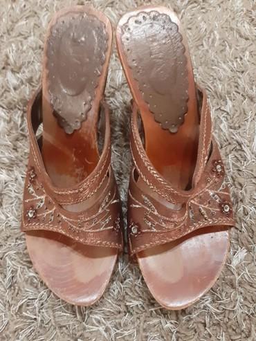 Ženska obuća | Stara Pazova: Braon papuce 38 broj