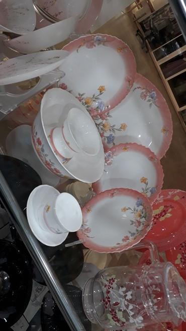 luminarc наборы посуды в Азербайджан: Luminarc fransanin mikravalnovkaya gedir wuwe matreal 4cur bowqab