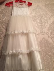 платья длинные на лето в Кыргызстан: Безумно нежное пышное платье   Взади есть очень красивый вырез .  На
