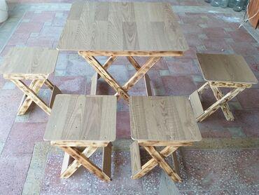 - Azərbaycan: Salam Acilib baglanan stol stullarini size teqdim edirik kanplekt 1