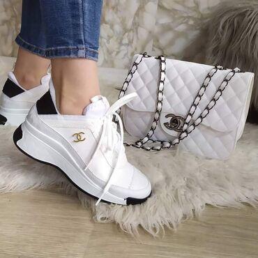 Ženska patike i atletske cipele - Beograd: Chanel kompletPatike, brojevi 36, 37, 38Cena 5700 dinPatike cena 4100
