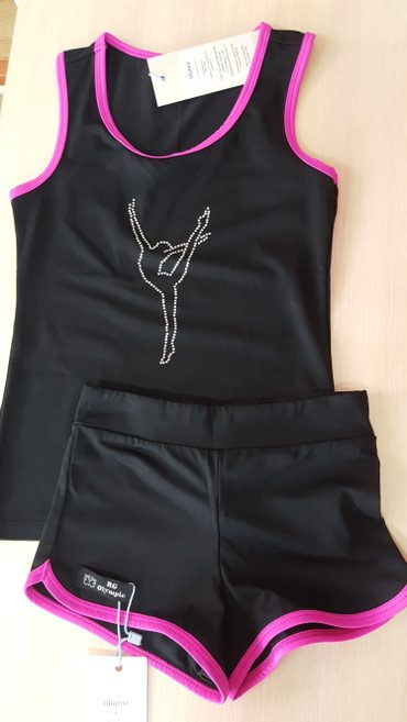 спортивная-гимнастика в Кыргызстан: Тренеровочная майка и шорты для художественной гимнастики RG Olympic