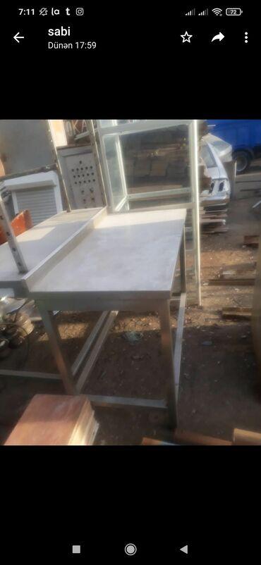 Nerjavika stol satilir. Uzunu 1.20/ eni 40/ Hundurluyu 80/. Qiymet 240