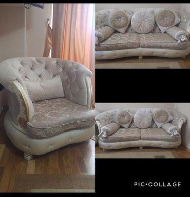 2 divan 1 kreslo divanlar acilir 550 manat Xirdalan &fidan