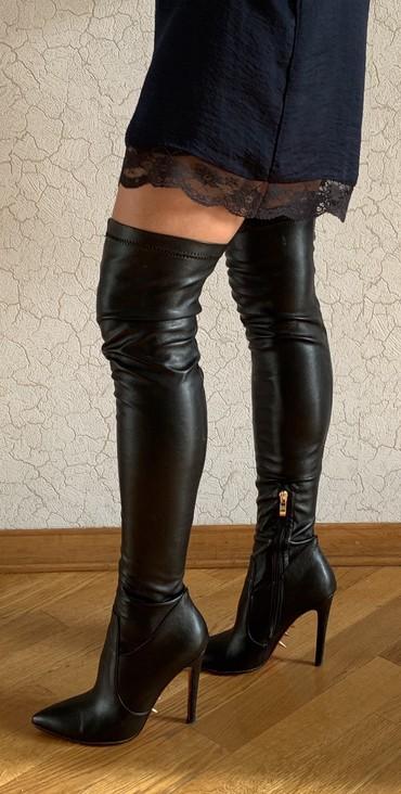 женские ботфорты в Азербайджан: Botfort. Ботфорты. Как новые. 37 размер