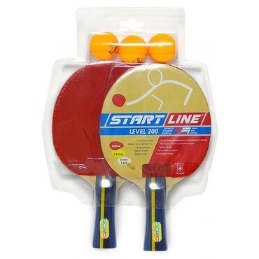 2 Ракетки Start Line Level 200, 3 Мяча Club Select, упаковано в блисте