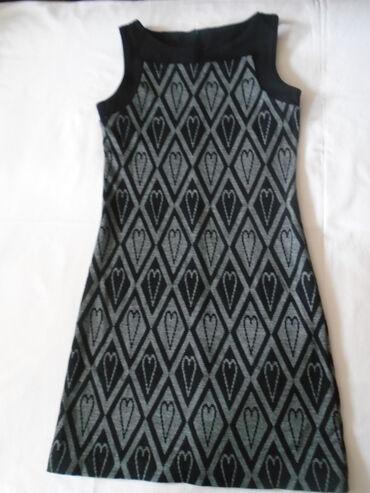 1634 oglasa | HALJINE: Sada 700 Nova (samo skinuta etiketa) kvalitetna, sivo crna haljinica