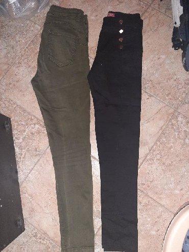 Pantalone-hm-duboke - Srbija: Maslinasto zelene pantalone br 30 400din, duboke push zadnjica. Crne