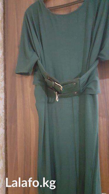 Женское трикотажное платье зеленого в Бишкек