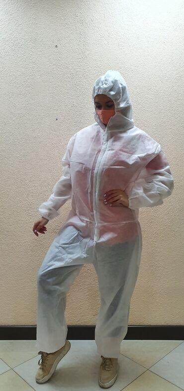 Костюм одноразовый из ткани спандбонд  40г/м2  60г/м2  80г/м2  Дадим н