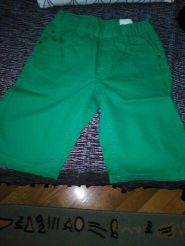 Skafander 116 - Pozarevac: Kratke pantalonice za decake, nove broj 116, zelene boje, cena