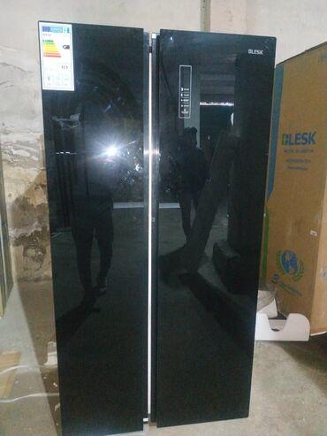 Новый Side-By-Side (двухдверный) Черный холодильник