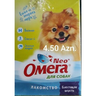 """yuva - Azərbaycan: Itlər üçün OMEQA vitaminleri bir paçkası 4.50 Azn.""""YUVA"""" ZOOMARKET"""