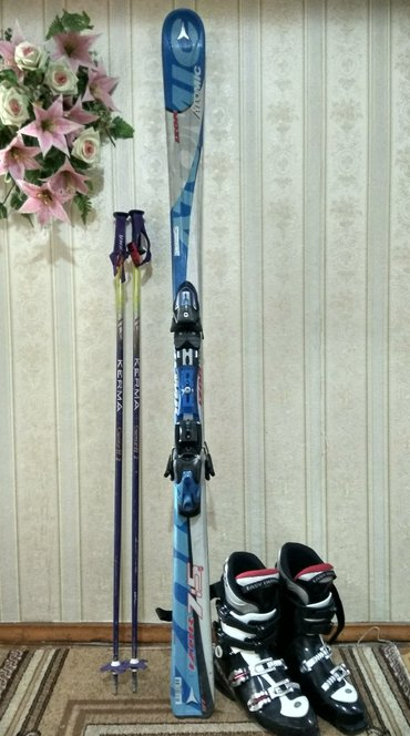 Горные лыжи с палочками. лыжи atomic, рост в Бишкек