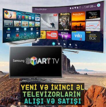 Yeni istifade olunmamis ve ikinci el televizorlar aliriq . En munasib