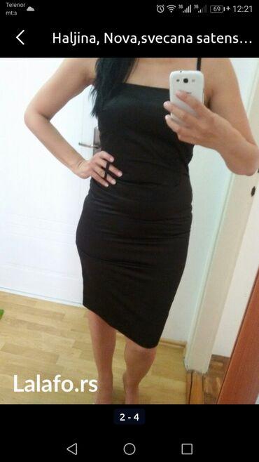 Svaku priliku haljina - Srbija: MALA CRNA HALJINA, savršena, za svaku priliku, od satena, vel. 38, u