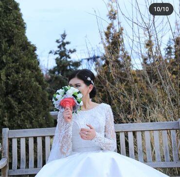 14 объявлений: Свадебный койнок сатылат,44-46размер,комплекте койнок,шлейф,корсет юбк