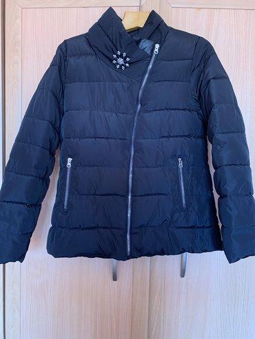Продается женская куртка деми, черного цвета, 46-48 размер, в отличном