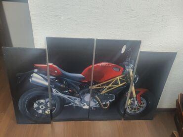 Модульная картина с мотоциклом ДукатиЖелезный каркасИ баннерная